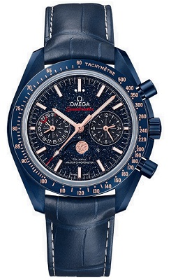 Omega Speedmaster Professional Moonphase Blue Side of the Moon Co-Axial Master Chronometer Chronograph