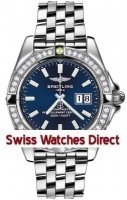 Breitling Galactic 41 (Steel/ Diamonds) Caliber 49 Automatic